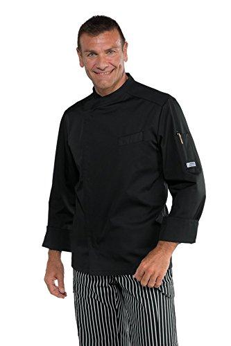 Isacco Giacca cuoco Bilbao - Isacco Nero, Nero, XL, 65% Poliestere 35% Cotone, Manica Lunga