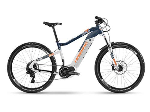 Haibike SDURO HardSeven 5.0 Yamaha 2019 - Bicicleta eléctrica, Color Blau/Weiß/Orange, tamaño M/44cm, tamaño de Rueda 27.50