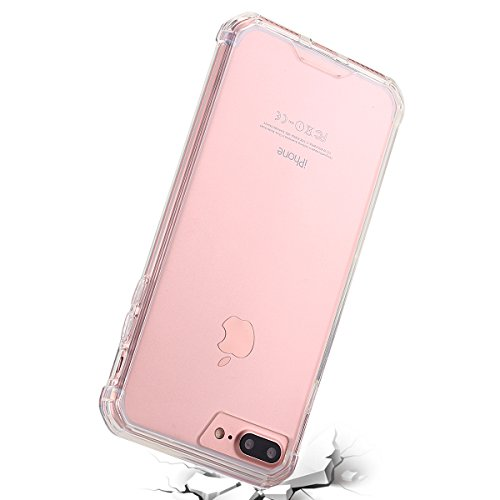 iPhone 7 Plus Tablet, iPhone 7 Plus Case, lontect cellulare custodia per Tablet Case Cover morbida flessibile estremamente sottile pelle graffi trasparente per prova per Apple iPhone 7 Plus Crystal Klar