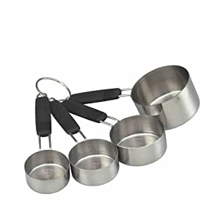Master Class Soft-Grip Stainless Steel Measuring Cups (Set of 4)