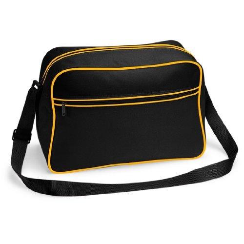 Shirtstown Retro Shoulder Bag, Umhängetasche, Schultertasche, Retro, Tasche blackgold