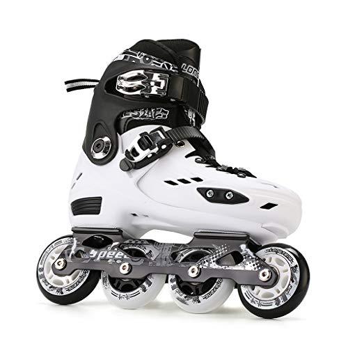 JIANXIN Inline-Skates, Erwachsenen-Rollschuhe, Geeignet Für Männer Und Frauen Und Anfänger Im Eiskunstlauf, Zwei Farben (Color : White, Size : EU 40)