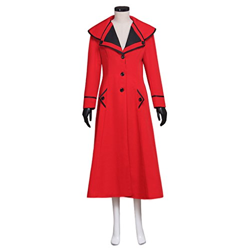 Cosplayitem Vintage Cappotto Giacca Vittoriana Gotica Costume Lungo Donna Halloween Rosso
