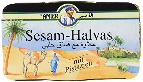 Al Amier Sesam-Halvas mit Pistazien, 12er Pack (12 x 100 g)