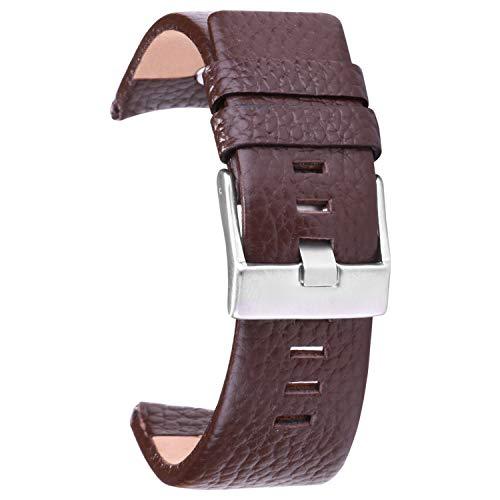 26mm cinturino di vigilanza di cuoio cinturino fibbia in metallo inossidabile, cinturino
