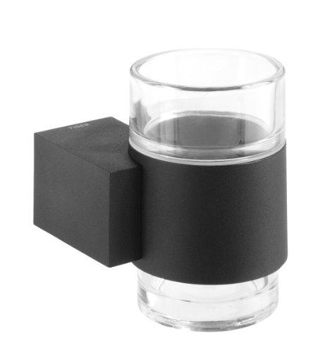 Preisvergleich Produktbild Tiger Nomad Glas Zahnputzbecher,  Edelstahl pulverbeschichtet,  schwarz