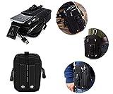 Bolsa de cintura, vdealen táctico Molle bolsa utilidad EDC Gadget cinturón cintura bolsa con funda de teléfono móvil soporte para correr senderismo camping actividades al aire libre