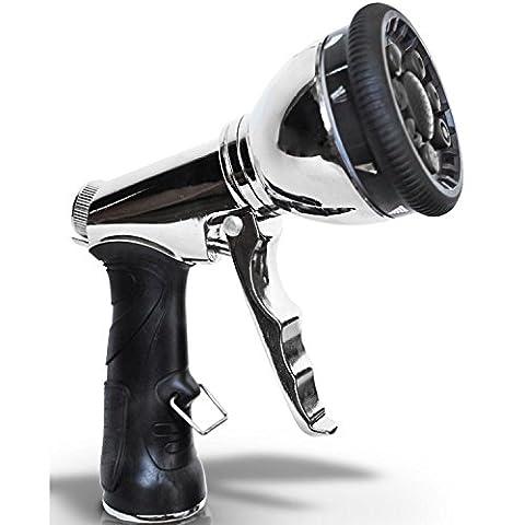 Pistolets d'arrosage Buse de tuyau de jardin, pistolet à eau haute pression en acier inoxydable, approprié pour le lavage de voitures, l'arrosage, la douche, le nettoyage