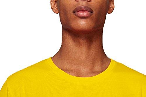 YTWOO Herren Rundhals Tshirt Aus 100% Bio-Baumwolle- in Diversen Farben Schwarz und Weiß bis 2XL - Organic, Herren Bio Shirt, Herren Bio T-Shirt Golden Yellow
