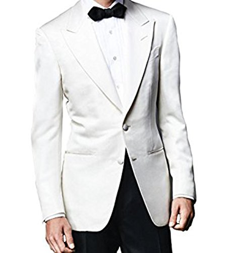 Red Smoke Herren Anzug Gr. Large, White Tuxedo & Black Trousers James Anzug