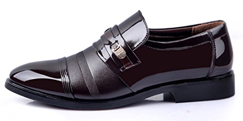 DADAWEN Homme Mode Commercial British Style Leather Chaussure Brun