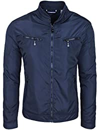 Evoga Giubbotto Giacca Uomo Casual Slim Fit Giubbino Moto Parka Man s Jacket 82d58f2b297