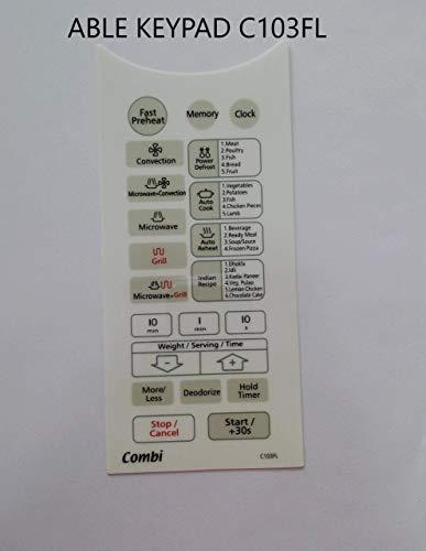 Able Microwave Oven Membrane Keypad Model No - C103FL (White)
