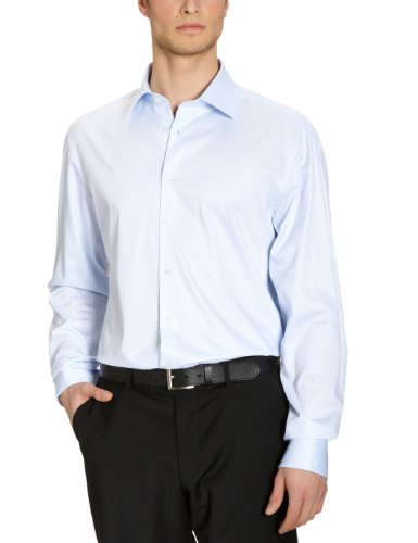 Jacques Britt Herren Businesshemd Regular Fit 20.969313 Ben EL Blau (10 - Uni hellblau)