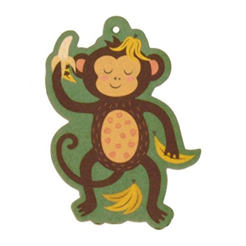 trendaffe Affe mit Bananen Lufterfrischer - Bananen-Affe Duftbaum Auto Lufterfrischer