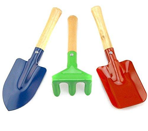 NYKKOLA - Juego de pala y pala para jardinería infantil (3 piezas)