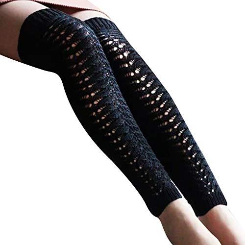 Calzini donna, ragazze donne donna coscia alta sopra il ginocchio calze lunghe calze di cotone caldo da zoimx
