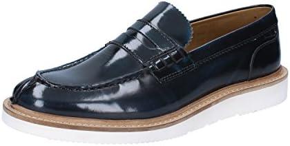 Base London Mocasin Hombre Sneaker Cuero Hi Shine Azul_41