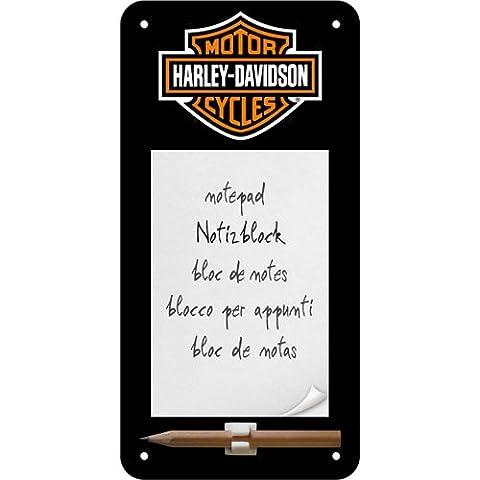 Nostalgic Art 84020 Harley-Davidson Logo Sign, notepad, 10 x 20 CM