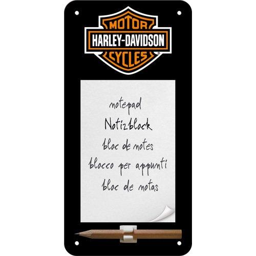 nostalgic-art-84020-harley-davidson-logo-sign-notepad-10-x-20-cm