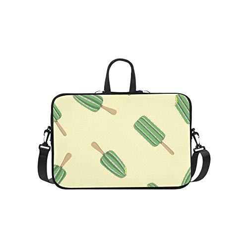 Laptop Umhängetasche Umhängetasche Tasche Notebook Griff Ärmel Neopren Soft Carring Tablet Reisetasche, Muster Farbige Eisform Laptop Handtaschen 14