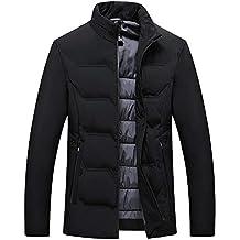 Cazadora de Hombre,BBestseller Hombres Deportivas algodón Stand Color sólido Cremallera Abrigo de Invierno Caliente