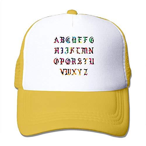 AOHOT Herren Damen Baseball Caps,Hüte, Mützen, Classic Baseball Cap, Mens/Womens Pablo Alphabet Letters Funny Mesh Cap Trucker Hat Royalblue (J Cool Halloween Ll)