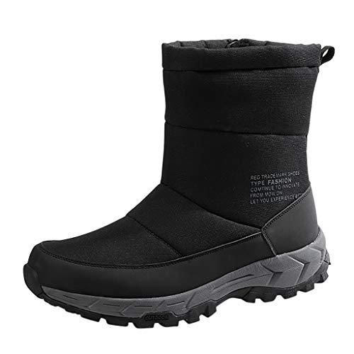 ➤Refill➤ Winterstiefel Herren Warm Gefütterte Schneestiefel Wasserdicht Regen Draussen Stiefels Herren Winterschuhe Stiefelette Outdoor Boots