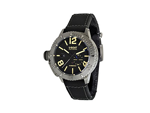 U-Boat Classico Sommerso Automatic Watch, Stainless Steel, Black, 45 mm, 9007