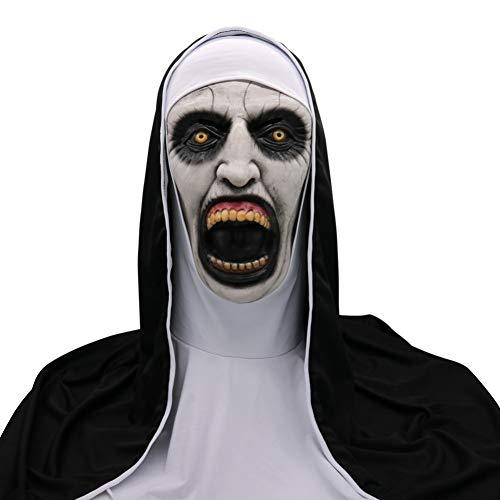 Kostüm Muster Nonne - WZMHBMJ Halloween Gruselige Maske Cosplay Scary Scary Nonne Maske Schmelzendes Gesicht Latex Kostüm Halloween Maskerade Scary Monster Maske