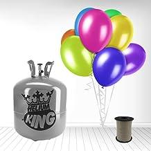 Bombona de Gas Helio para hinchar 50 globos + 50 globos estándar