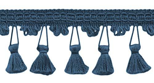 Decopro 16.5meter pacchetto–64mm blu francese della frangia trim basic trim collection style # tfc0225 color: m45(16,5m/16.5meters)