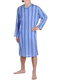 Classic - Hommes Robe de Nuit Manches Courtes 100% Coton