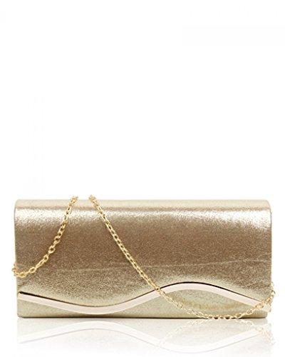 2d27205757207 LeahWard Frauen Klappe Abend Clutch Bag Handtasche für Hochzeit Ausgehabend  Abschlussball CWE017 (Silber L Kupplung