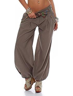 malito Pantaloni alla zuava classico Design Boyfriend Aladin Harem Pantaloni Sbuffo Pantaloni Pump Baggy Yoga...
