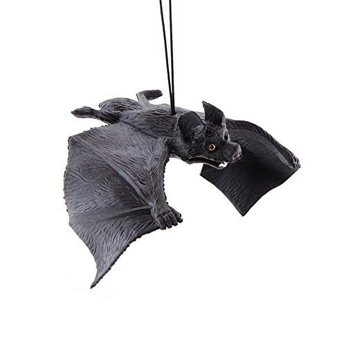 Aolvo Ruber realistische Fledermäuse zum Aufhängen, Halloween-Party, hängende Fledermäuse, knifflige Spielzeuge, realistische Fledermäuse für Halloween, Event, Party-Dekoration, 17 * 6cm (Fledermäuse Halloween Spielzeug)