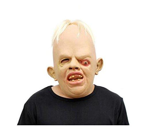 XGMSD Neuheit Latex Gummi Gruselig Scary Hässlich Baby Kopf Die Goonies Faultiere Maske Halloween Party Kostüm (2er (Halloween Kostüme Hässliche)