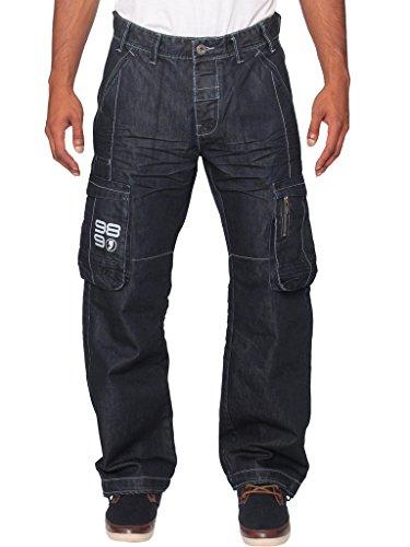 Ze ENZO - Jeans - Homme Noir délavé