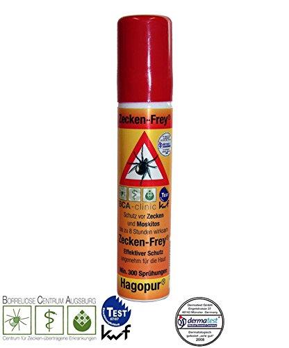 Preisvergleich Produktbild 1 x Zecken Frei Spray - Zecken-Frey Spray hilft gegen Zecken, Stechmücken, Bremsen & ähnlichen Insekten, 25 mL Pumpflasche Vorbeugung von Zeckenbiss - passt in jede Hosentasche Rücksack für Camping Outdoor Freizeit