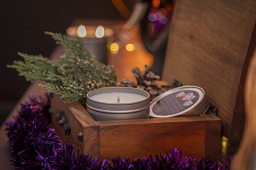 Vela artesanal ecológica vela de cera de soja y perfume de Grasse-árbol de Navidad-100ml