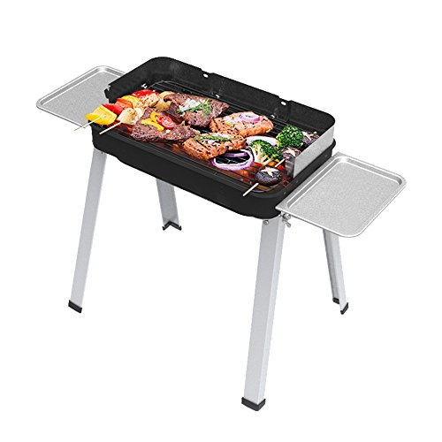 41DQtSP44oL. SS500  - HengBO Charcoal BBQ Grill Portable Outdoor Garden Camping Barbecue Smoker Barbecue Stainless Steel Barbecue Grill Rack with Removable Legs