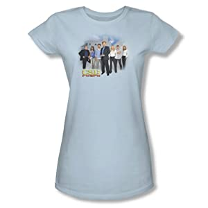 Cbs - Csi / Miami Cast Juniors T-Shirt In Light Blue
