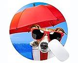 Yanteng fertigte runde Mausunterlage besonders an, Nette Hund Rutschfeste personalisierte runde Mausunterlage