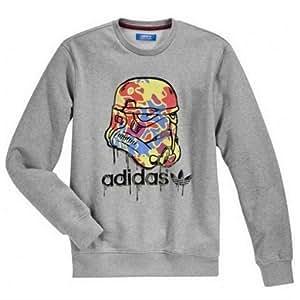 Adidas Original Star Wars Stormtrooper camouflage Sweat-shirt gris-Taille L