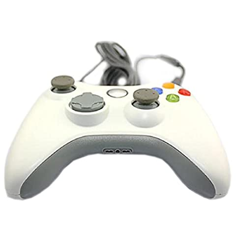 Confortable Game Controller Manette filaire Xbox 360 PC Mac blanc
