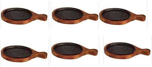 """Sizzler Bat Wooden Oval Sizzler with Handle/Racket 15"""" 7"""",6 piece"""