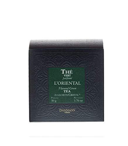 Dammann Teas L'Oriental Green Tea- 25 Crystal Tea Bags