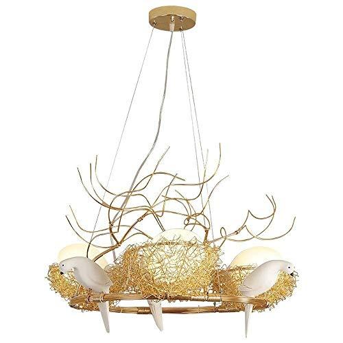Tischlampe Aluminium Kronleuchter Nordic Led Glas Beleuchtung Vogel S Nest Deckenleuchte Moderne minimalistische Wohnzimmer Studie Esstisch Pendelleuchte Lampe for Gastronomie LED-Deckenleuchte -