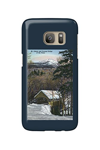 White Mountains, NH - Covered Bridge at Flume in Winter, Mt Liberty in Distance (Galaxy S7 Cell Phone Case, Slim Barely There) (Zubehör Mountain Liberty)
