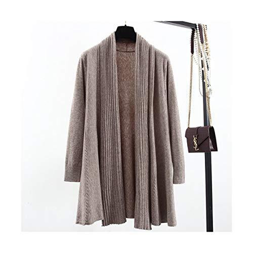 SIKESONG Frühling Herbst Poncho Stricken Tops Angora Twist Pullover Frauen Strickjacken Mantel, Khaki, Größe